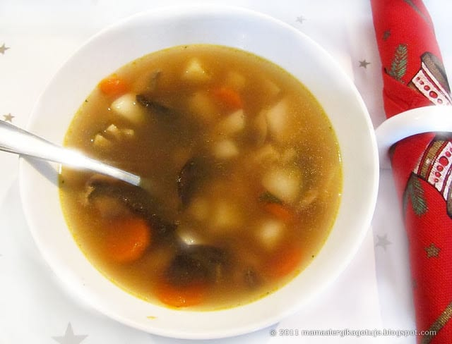 Zupa Pieczarkowo Grzybowa Z Ziemniakami Mama Alergika Gotuje