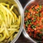 Marchewka z groszkiem i Fasolka szparagowa na ciepło