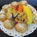 Muffiny marchewkowe z jabłkiem i żurawiną
