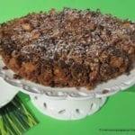 Ciasto amarantusowe orkiszowe (bez cukru, wegańskie)