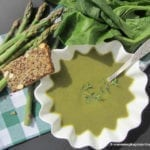 Zupa krem ze szparagów i szpinaku