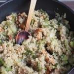 Komosa ryżowa z kurkami i warzywami