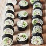 Sushi-maki bez ryżu i ryby