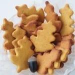 Ciasteczka jesienne, dyniowe (bezglutenowe, wegańskie, bez cukru)