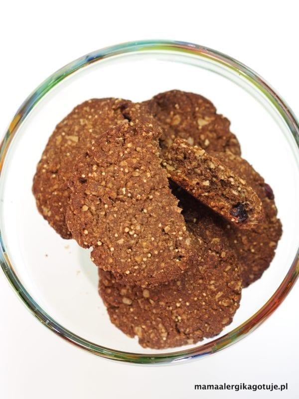 bezglutenowe ciasteczka owsiane karobowe