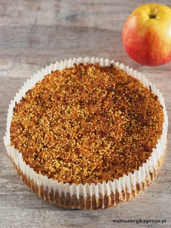 ciasto jaglane z jabłkami