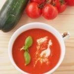 Zupa krem pomidorowy z cukinią