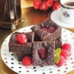 Brownie daktylowe z chia wegańskie bezglutenowe
