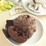 Popękane ciasteczka czekoladowe wegańskie