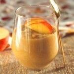 Pudding amarantusowy z pieczonym jabłkiem
