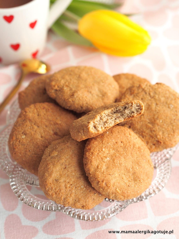 Ciasteczka owsiane cynamonowe bez mleka, bez jajek, bez glutenu