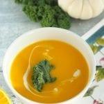 Zupa dyniowa z mlekiem kokosowym i sokiem z pomarańczy