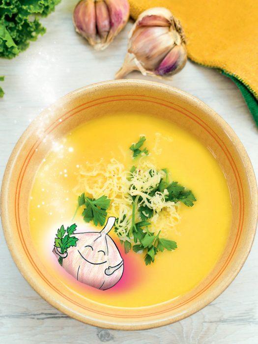 Czosnkowa zupa rozgrzewająca, Mama Alergika Gotuje. Z dziećmi. Dania na jesień i zimę